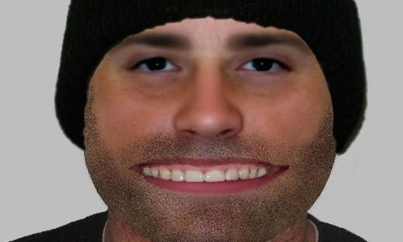 identikit, sorriso, polizia, rapinatore
