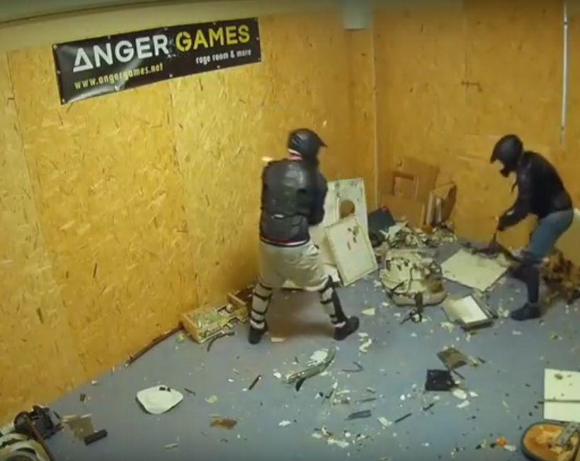 La Rage Room è la stanza della rabbia