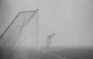 nebbia, portiere, calcio, Charlton