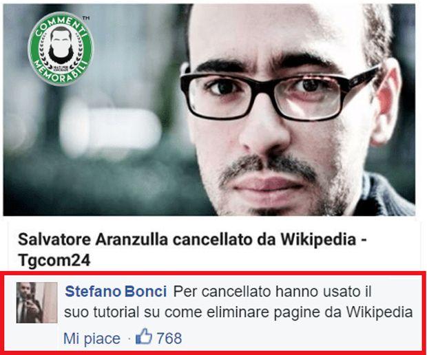 Salvatore Aranzulla commenti memorabili
