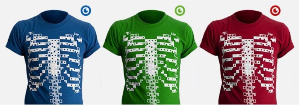 la maglietta che ti mostra il corpo umano