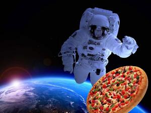 La pizza nello spazio è realtà