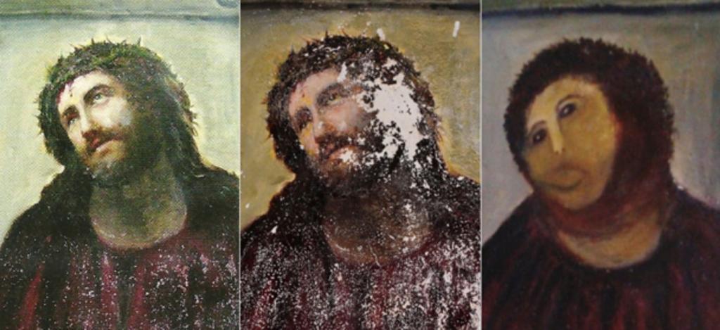 idioti che hanno rovinato opere d'arte e reperti storici