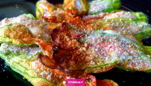 Fiori di zucca ripieni ricetta light al forno