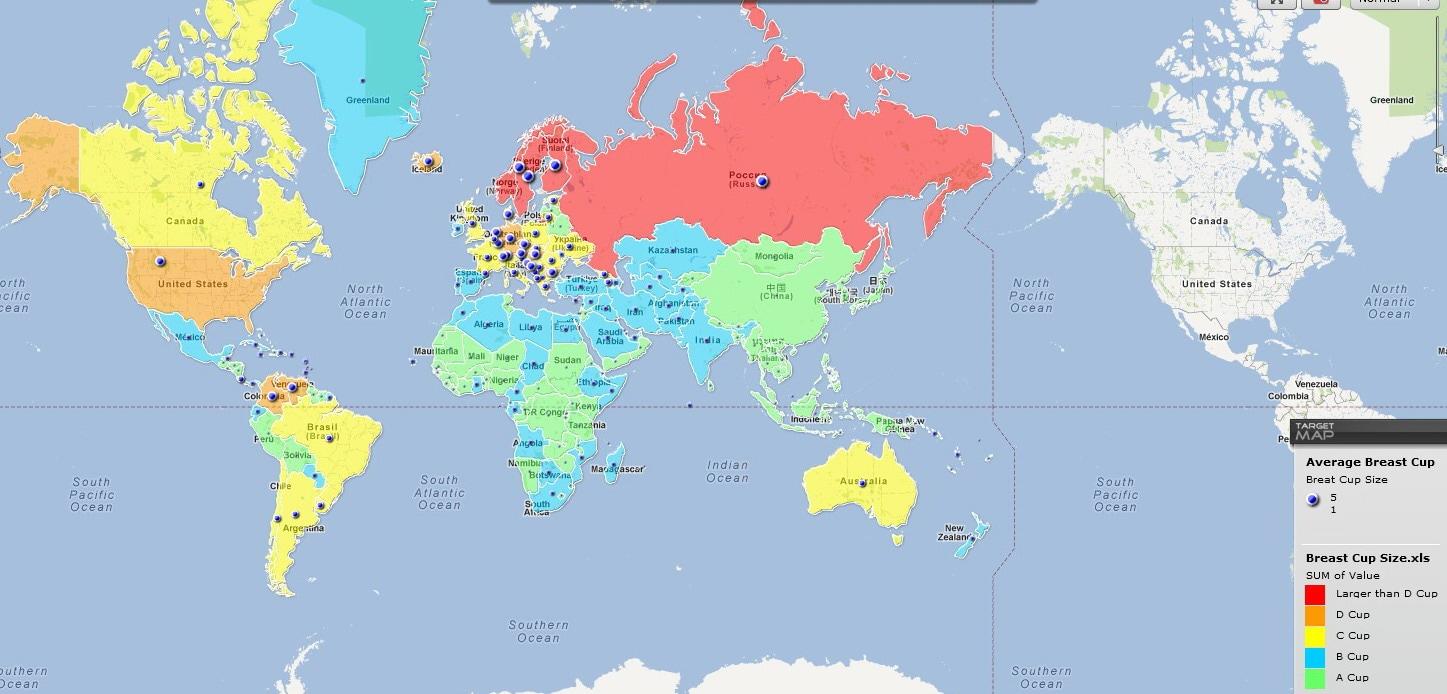 Cartina Mondiale Stati.Mai Piu Senza La Mappa Mondiale Delle Tette Giornalettismo