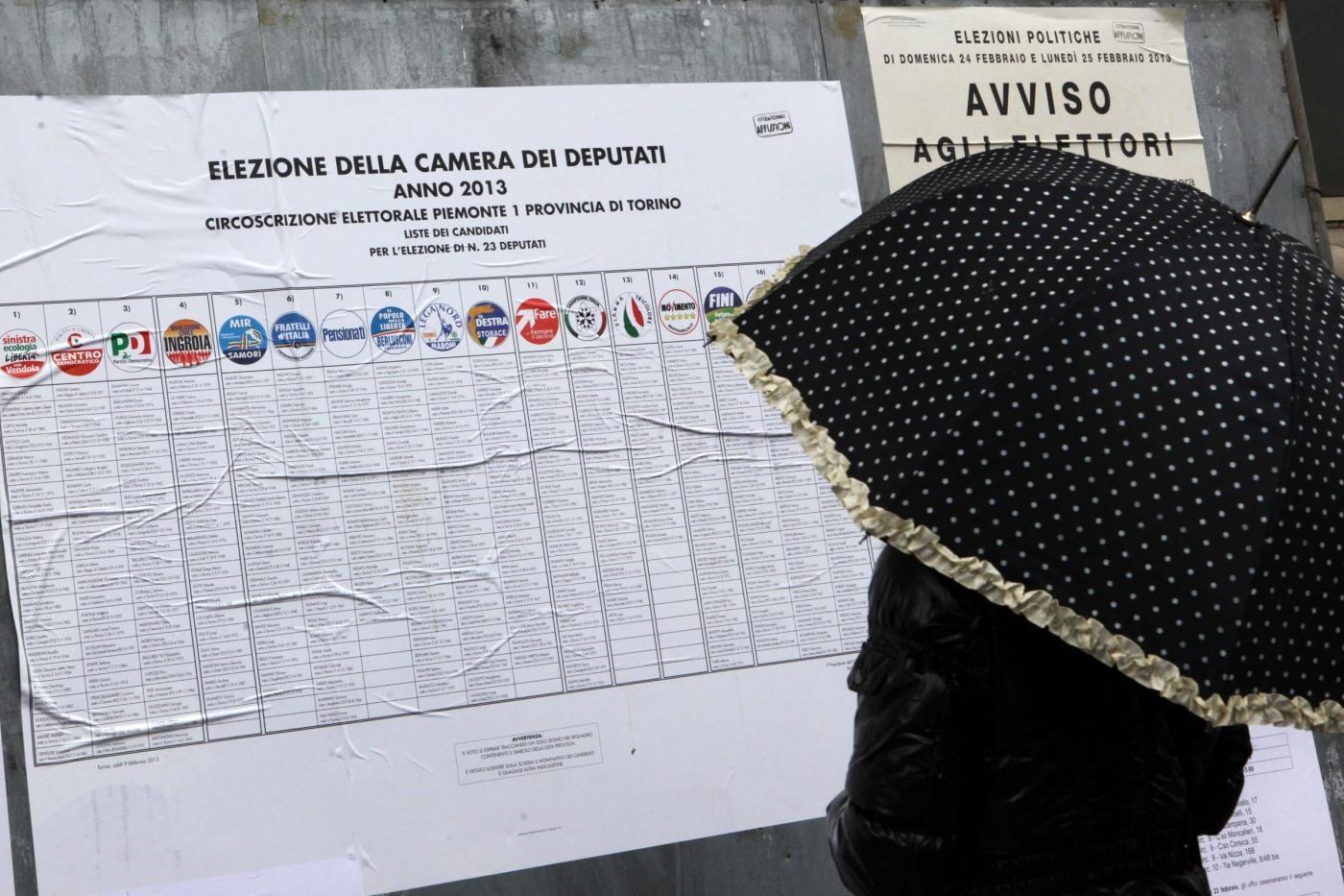 Elezioni Politiche 2013, Il voto a Torino