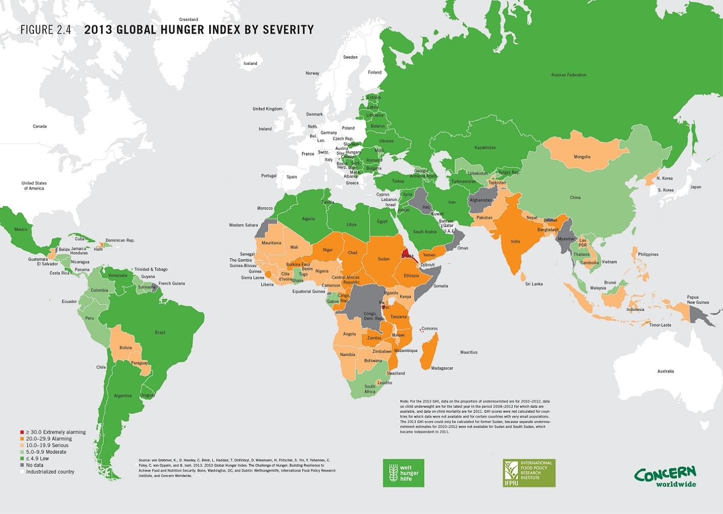 Cartina Mondo Orientale.La Mappa Dei Paesi Piu Affamati Del Mondo Giornalettismo