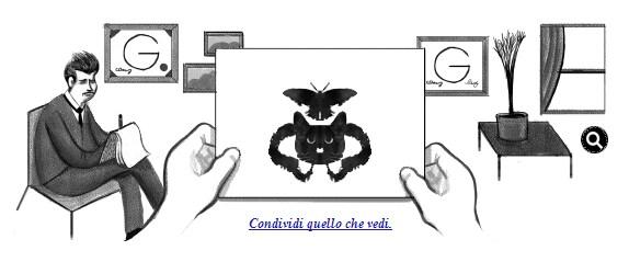 Hermann rorschach un doodle per giocare con il test delle macchie giornalettismo - Tavole di rorschach interpretazione ...