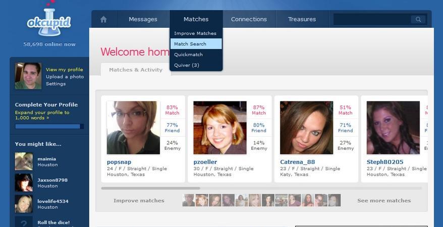 Profilo di dating online incrinato