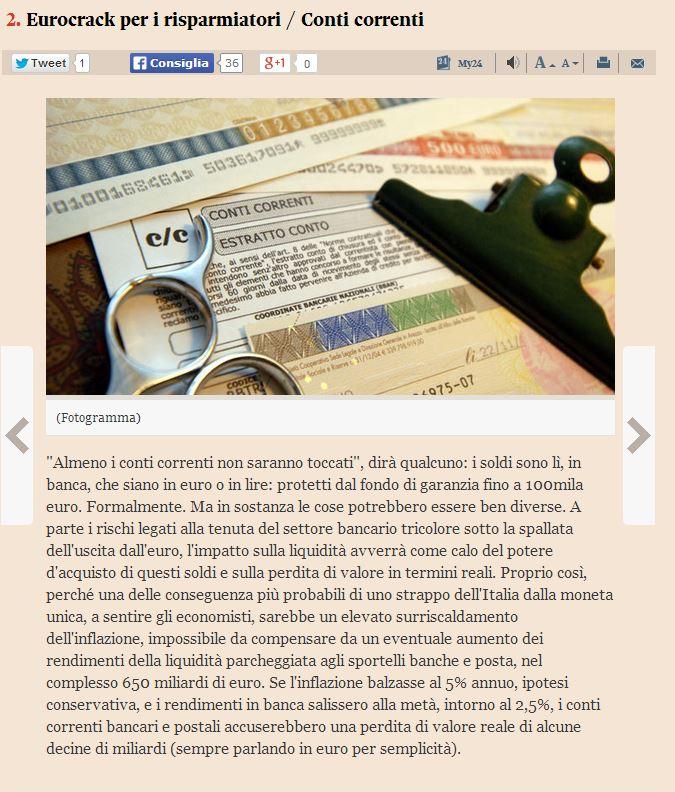 italia fuori dall'euro che succede 2