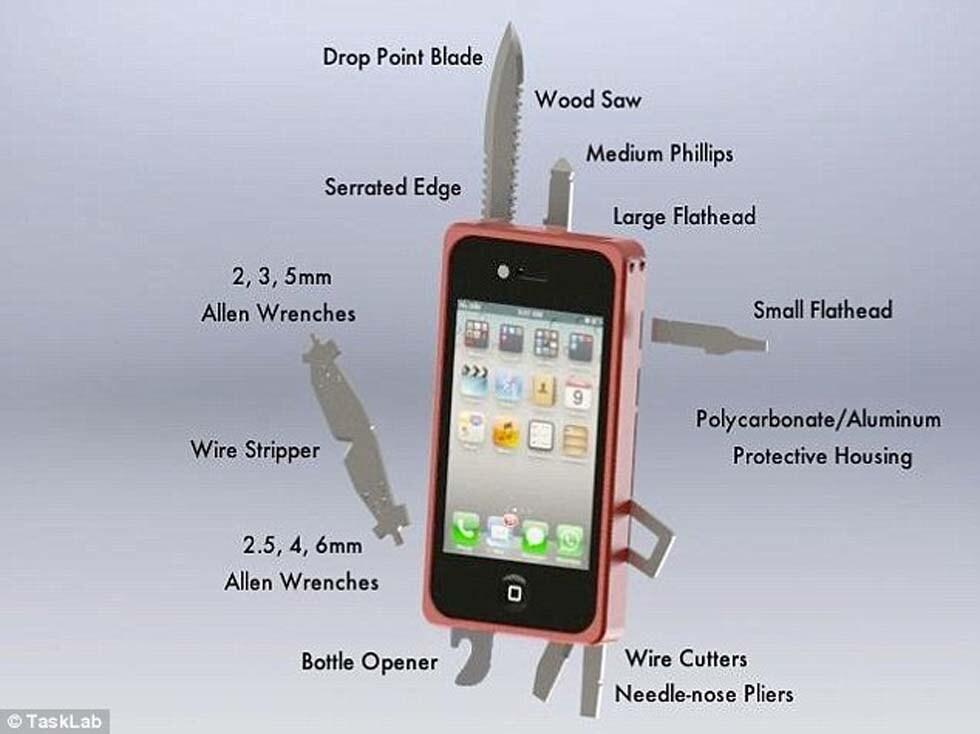 custodia coltello iphone