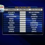 Calendario Serie A, tutte le partite