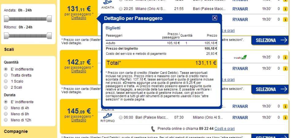 acquisto biglietti aerei