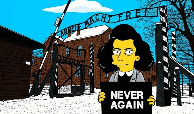 I Simpson «incontrano» Anna Frank per il giorno della memoria