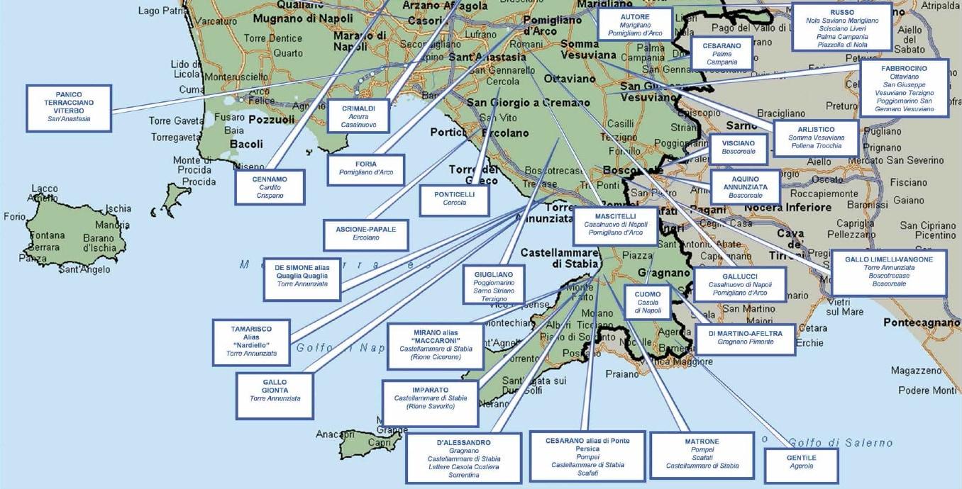 Provincia Di Napoli Cartina.Mafia Ndrangheta Camorra La Mappa Dei Clan Giornalettismo