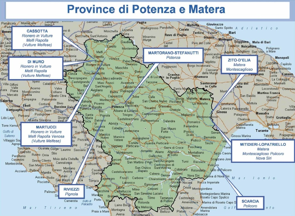 mappa mafia 20 potenza matera