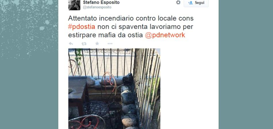 Mafia capitale ha incendiato un pub gestito da un for Di tommaso arredamenti ostia