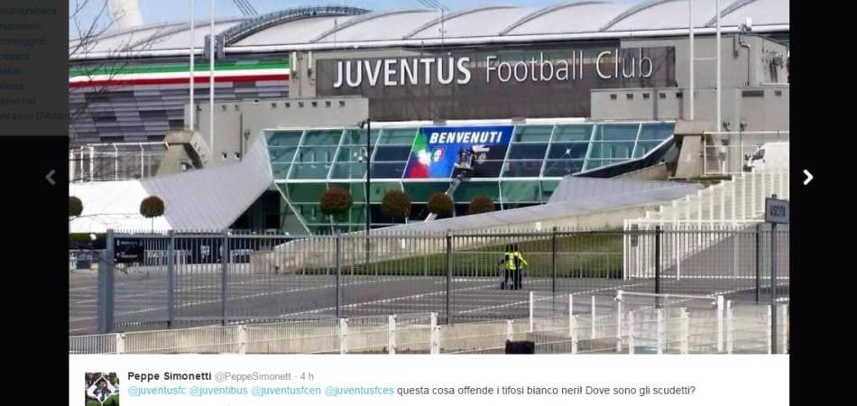 La Figc fa nascondere i 32 scudetti allo Juventus Stadium ed i tifosi non apprezzano