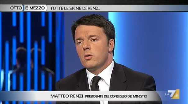 Matteo Renzi otto e mezzo
