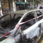 No Expo macchina bruciata