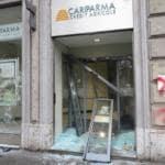 No Expo, vetrina distrutta