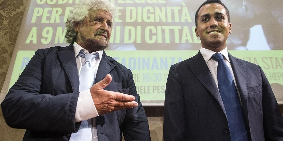 Resultado de imagen de Beppe Grillo y Luigi Di Maio