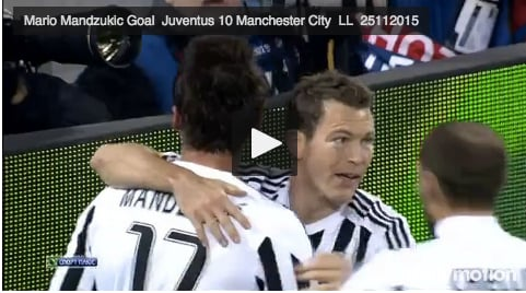 Juventus - Manchester City VIDEO GOL E HIGHLIGHS VIDEO