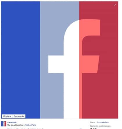 foto profilo facebook francia bandiera francese