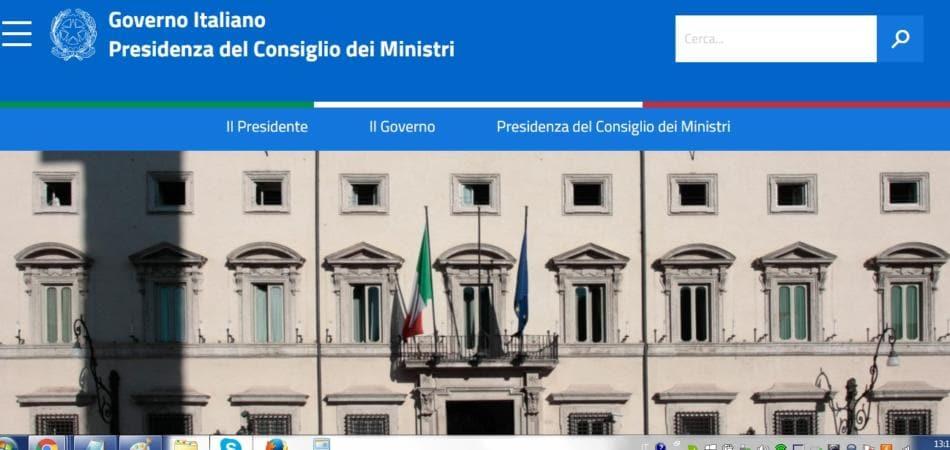 Il nuovo sito del governo giornalettismo for Sito governo italiano