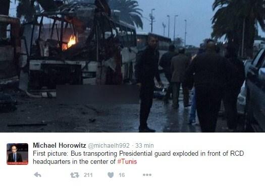 tunis bus guardie presidenziali