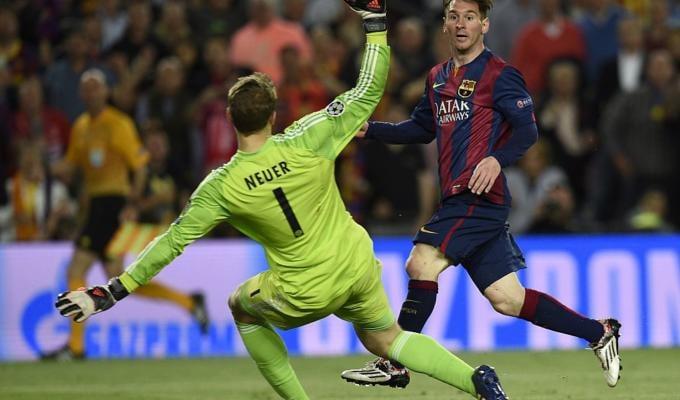 1 - Messi castiga Guardiola. Il Barcellona chiude la pratica semifinale all'andata.