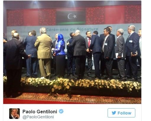 LIBIA ACCORDO GENTILONI
