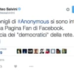 Salvini anonymus twitter
