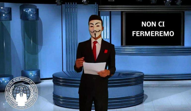 anonymous attentato italia