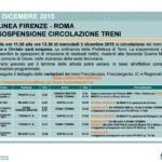 frecciarossa firenze-roma interruzione 2 dicembre