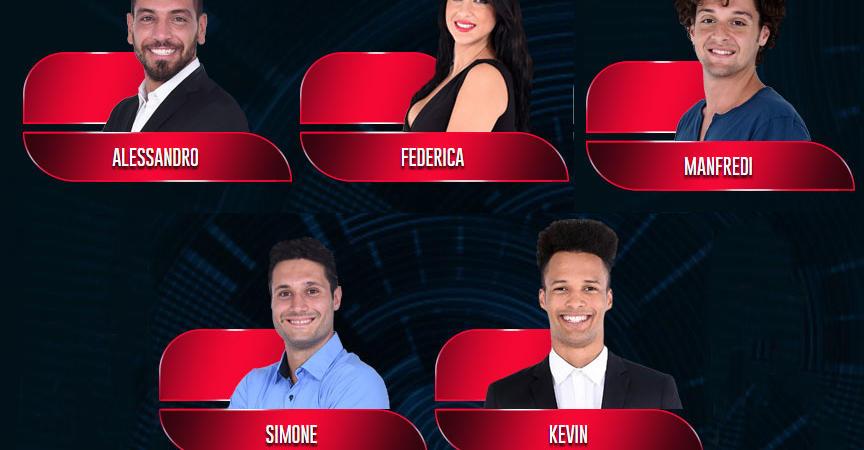 grande fratello finalisti 2015 Simone, Federica, Manfredi, Alessandro Kevin