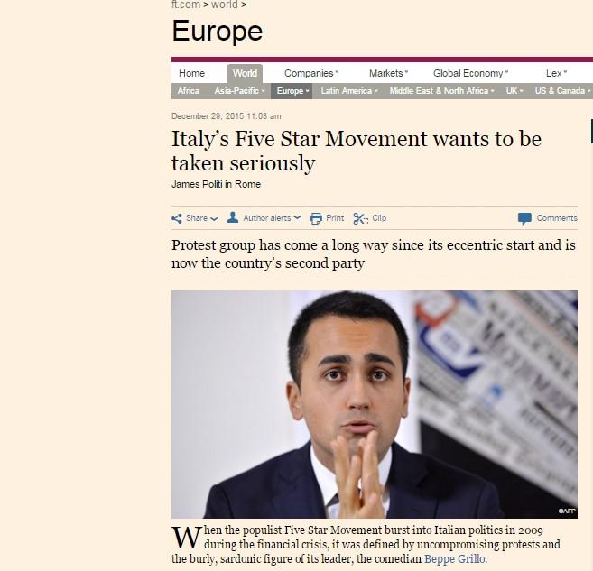 M5S Financial Times
