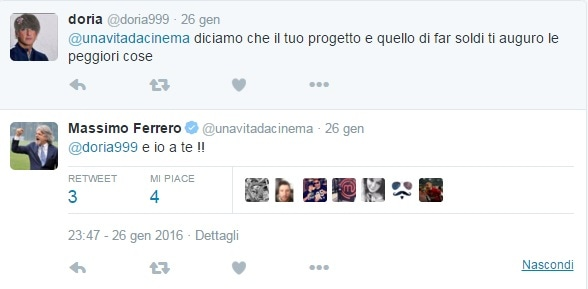 Massimo Ferrero Insulti Twitter