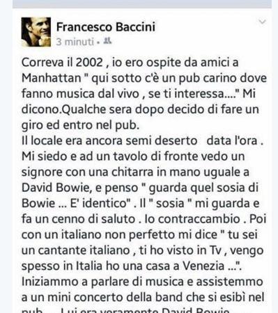david bowie francesco baccini
