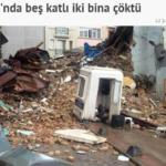 Istanbul, il palazzo crollato