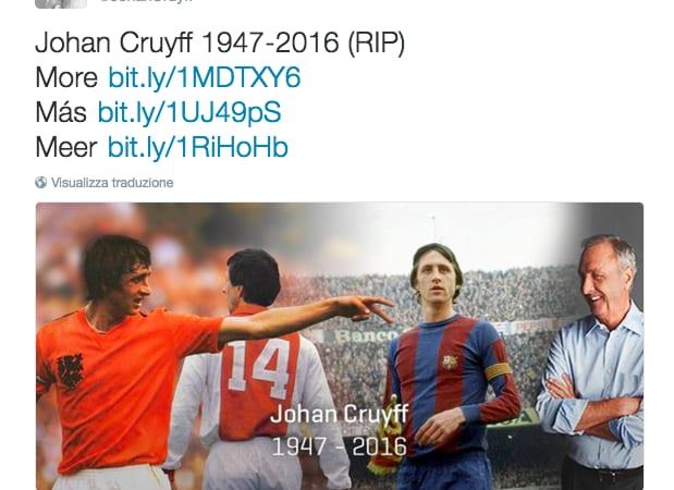 Johan Cruyff è morto