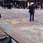 attentato-bruxelles messaggi scritti sulla strada foto