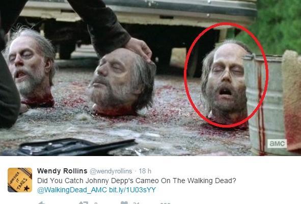 johnny depp walking dead