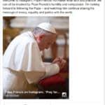 papa francesco instagram