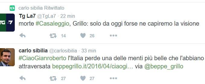 Gianroberto Casaleggio morto