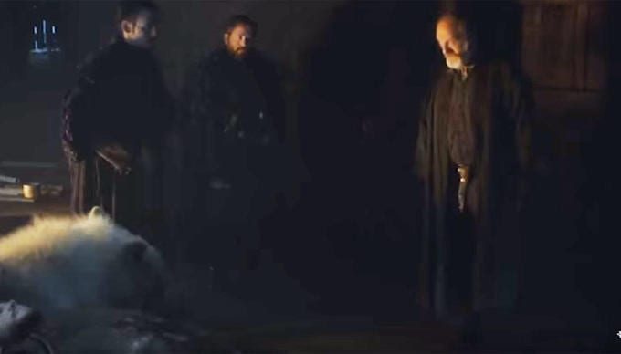 game of thrones 6 video davos difende jon snow