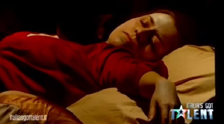 italia got talent quadri caravaggio video