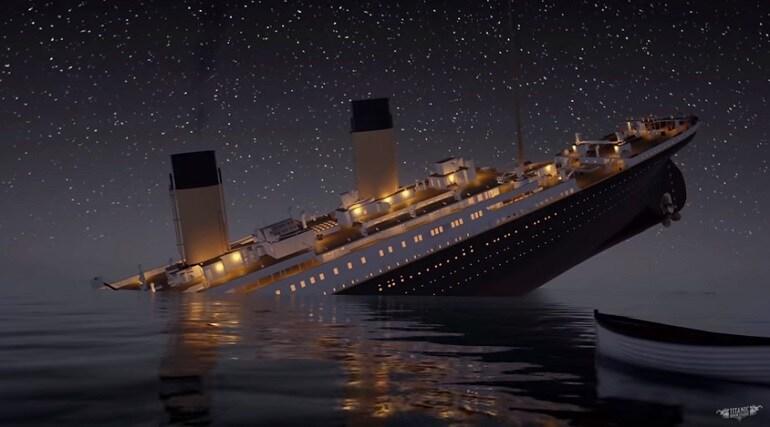 titanic affondamento video in tempo reale