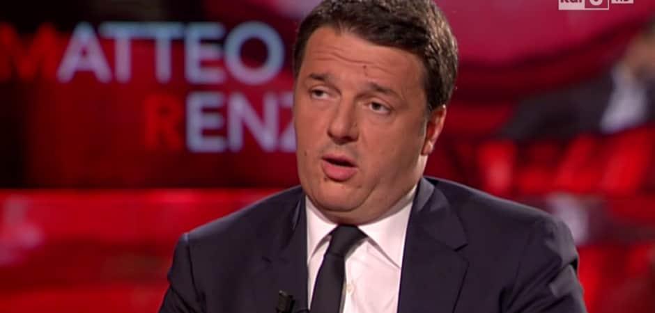 Matteo Renzi ospite di che tempo che fa