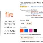 kindle fire 1 euro amazon